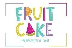 Fruit Cake Handwritten Font Product Image 1