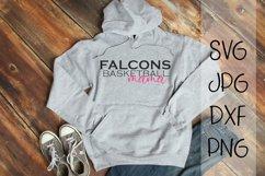 Falcons Basketball Mama, A Basketball SVG Product Image 1