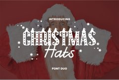 Christmas Hat Font | merry christmas font Product Image 1