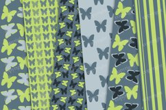 Green, gray seamless butterflies digital paper Product Image 2