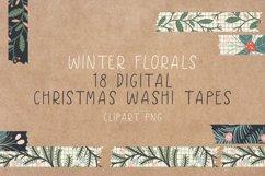 Digital Christmas Washi Tapes - Washi Tape Clipart Product Image 1