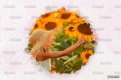 Watercolor portrait paint masks, photo frame, Photoshop Product Image 3