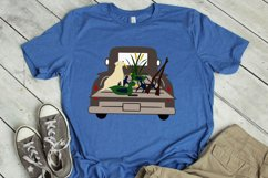 Hunting Truck Ducks and Lab SVG, DXF, PNG, EPS Comm Product Image 1