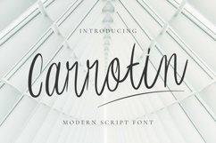 Web Font Carrotin Font Product Image 1