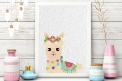 Colorful Llamas - Decorated Llama - clipart - Alpaca Product Image 4