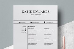 Resume | CV Template Cover Letter - Katie Edwards Product Image 4