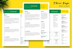 Creative Resume CV Template for Word & Pages Elena Island Product Image 4