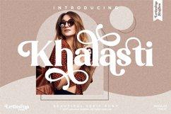Khalasti - Beautiful Serif Font Product Image 1