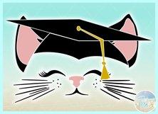 Cat Face With Graduation Cap Seniors of 2019 SVG Product Image 3