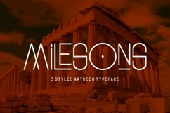 GR Milesons | Artdeco Typeface Product Image 1