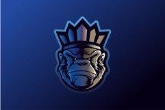 Monkey Gorilla Esport gaming mascot logo template Vector. Mo Product Image 1