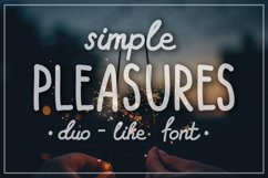 SIMPLE PLEASURES - hand drawn font Product Image 1