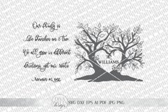 Our Family Is Like Branches On A Tree SVG   Farmhouse Sign Product Image 2
