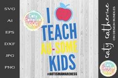 I Teach Au-some Kids SVG Autism Awareness Cut File Product Image 2