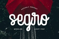 Web Font Segro - Script Font Product Image 1