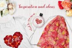 Floral watercolor rose petals Product Image 6