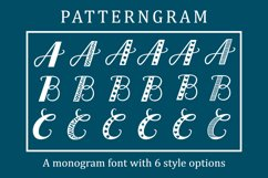 Patterngram - Monogram font with 6 style options Product Image 1