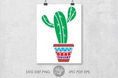 Cactus svg, cactus in pot, cactus vector, succulent clip art Product Image 3