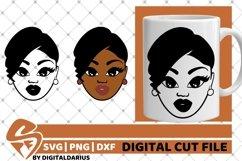 Black Woman svg, Natural Hair, African American, Melanin svg Product Image 1