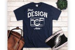 Navy Tshirt Mockup Mens Navy Blue Shirt Display Product Image 1
