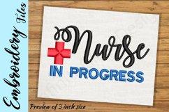 Nurse In Progress - Embroidery Design files Product Image 2