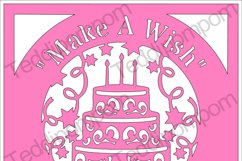 Make A Wish Happy Birthday SVG Product Image 1