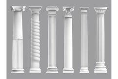 Antique greek pillars. Greek ancient column, historic roman Product Image 1
