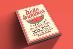 Hello Summer Party Flyer Template Product Image 3