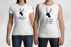 Oh deer Christmas is here. Oh deer SVG. Reindeer Head SVG. Product Image 2