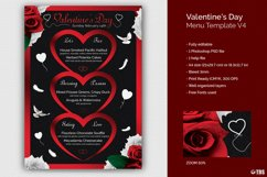 Valentines Day Menu Template V4 Product Image 1