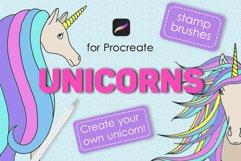 Unicorn procreate stamp brushes Product Image 1