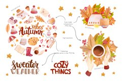 Autumn Vibes Watercolor Collection Clipart Product Image 3