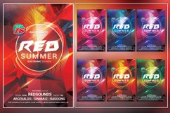 Red Summer Photoshop Flyer Template Product Image 1