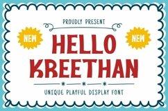 Web Font Kreethan Font Product Image 1