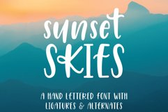 Sunset Skies Handwritten Sans Serif Font Product Image 1