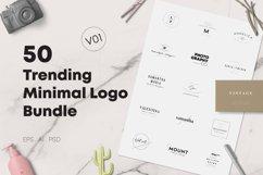 50 Trending Minimal Logo Bundle V01 Product Image 1