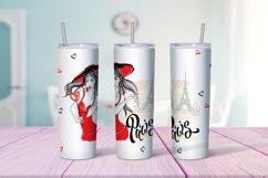 Travel girls in Paris tumbler sublimation design Png Product Image 5