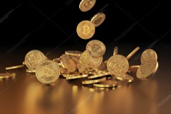 5  files - 3D rendering Bitcoins falling on a pile Product Image 5