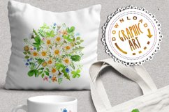 Daisies Bouquet Watercolor Clipart  Product Image 5