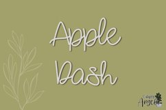 Apple Dash - a smooth handwritten script font Product Image 1