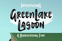 Web Font Greenlake Lagoon - Handlettering Font Product Image 2