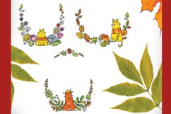 Autumn Cats - clip-art collection, patterns, frames Product Image 5