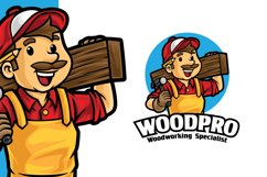 Carpentry Wood Working Logo Template Product Image 1