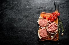 20 Photos Raw burgers. Cooking of beef Burger patties. Product Image 5