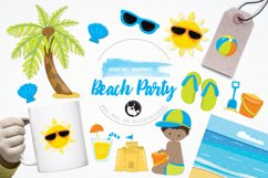 Beach Party  graphics and illustrations Product Image 1