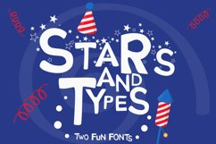 Stars and Types - 2 Fun Fonts Product Image 1