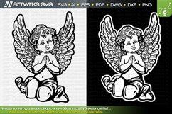 Angel SVG catholic clipart   Christian SVG by Artworks SVG Product Image 1