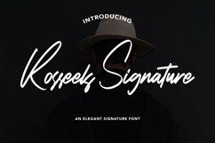 Web Font RosseelsSignature - Elegant Signature Font Product Image 1