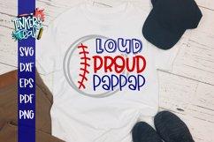 Loud Proud Baseball Softball Pappap SVG Product Image 1