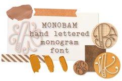Monobam - Round Monogram Font Product Image 1